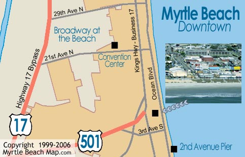 Map Of Myrtle Beach Downtown